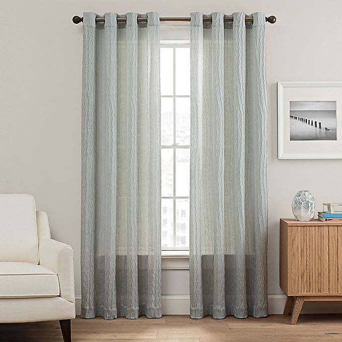 Alternate image 1 for Weston 95-Inch Grommet Top Window Curtain Panel in Blue