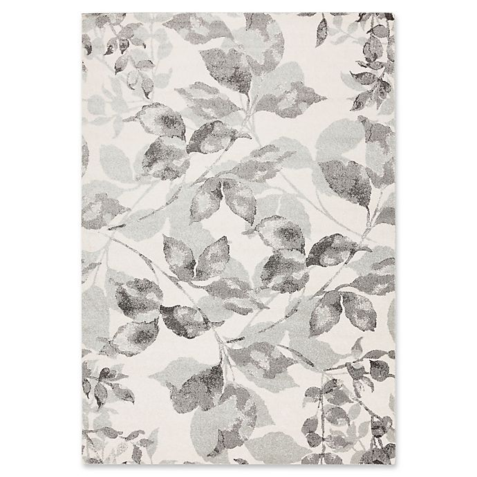 Alternate image 1 for Surya Aberdine Floral 2-Foot 2-Inch x 3-Foot Accent Rug in Grey