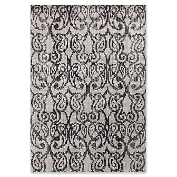 Alternate image 1 for Surya Aberdine Ikat 5-Foot 2-Inch x 7-Foot 6-Inch Area Rug in Dark Grey