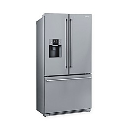 SMEG 36-Inch French Door Refrigerator with Automatic Freezer in Stainless Steel