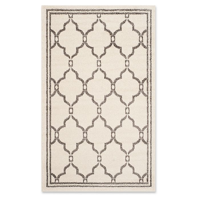 Alternate image 1 for Safavieh Amherst Quake 3-Foot x 5-Foot Indoor/Outdoor Area Rug in Ivory/Grey