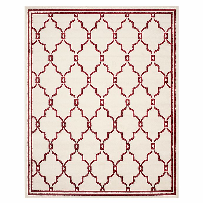 Alternate image 1 for Safavieh Amherst Quake 9-Foot x 12-Foot Indoor/Outdoor Area Rug in Ivory/Red