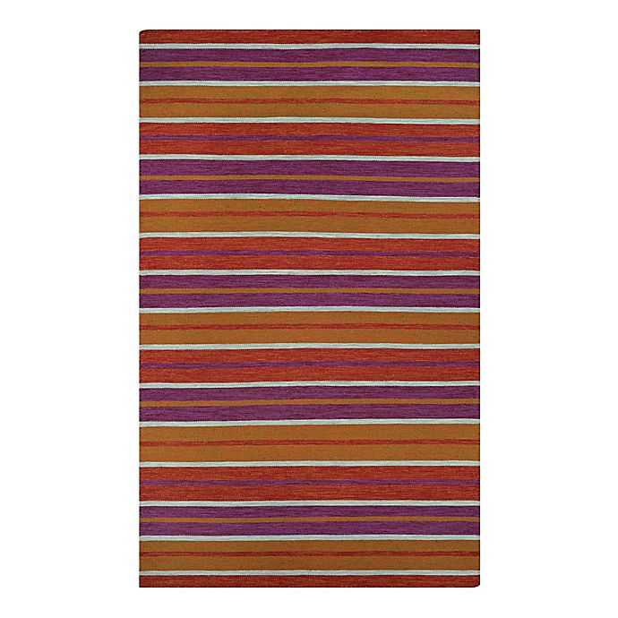 Alternate image 1 for Couristan Cottages Coral Cay 8-Foot x 10-Foot Indoor/Outdoor Area Rug in Fruit Punch