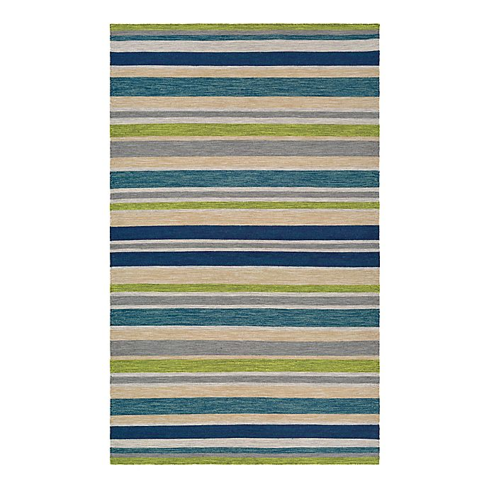 Alternate image 1 for Couristan® Cottages Alki 8-Foot x 10-Foot Rug in Ocean Blue