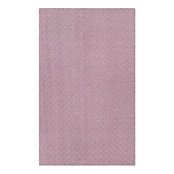 Alternate image 1 for Couristan® Cottages Manhasset 8-Foot x 10-Foot Indoor/Outdoor Area Rug in Pink