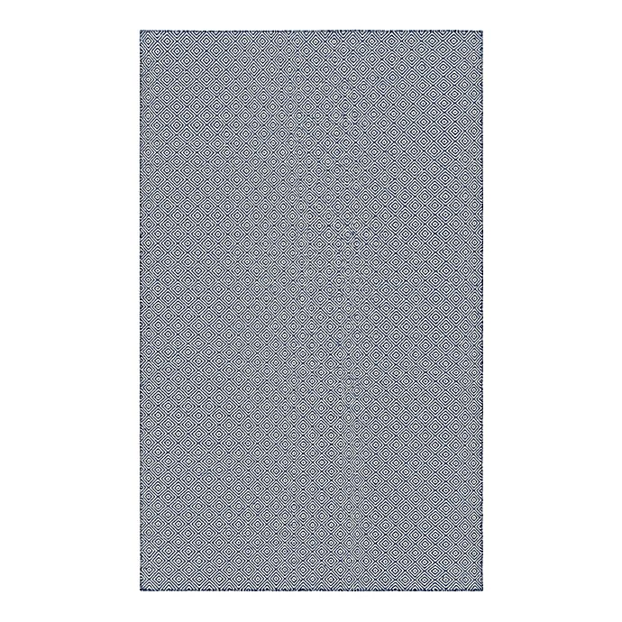 Alternate image 1 for Couristan® Cottages Manhasset 8-Foot x 10-Foot Indoor/Outdoor Area Rug in Navy