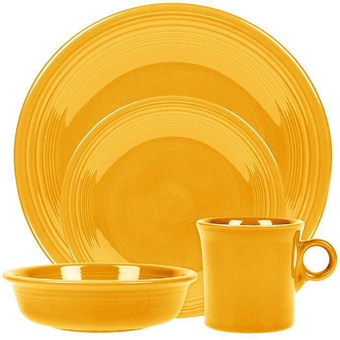 Alternate image 1 for Fiesta® 4-Piece Place Setting in Daffodil