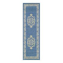 Couristan® Recife Antique Medallion 2-Foot 3-Inch x 7-Foot 9-Inch Indoor/Outdoor Runner in Blue