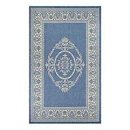 Couristan® Recife Antique Medallion Indoor/Outdoor Rug in Blue