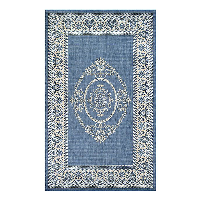 Alternate image 1 for Couristan® Recife Antique Medallion 8-Foot 6-Inch x 13-Foot Indoor/Outdoor Area Rug in Blue