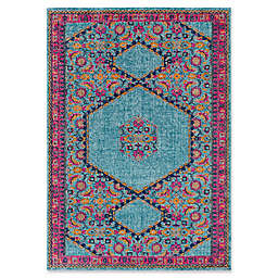 Style Statements by Surya Ilia 5-Foot 3-Inch x 7-Foot 3-Inch Area Rug in Aqua