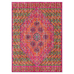 Style Statements by Surya Etum Rug in Bright Pink