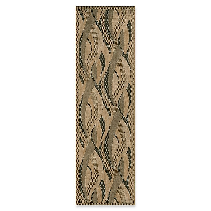 Alternate image 1 for Couristan® Recife Seagrass 2-Foot 3-Inch x 7-Foot 10-Inch Runner Rug in Natural/Black