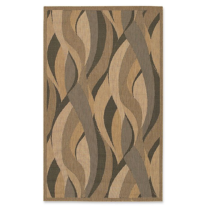 Alternate image 1 for Couristan® Recife Seagrass 5-Foot 10-Inch x 9-Foot 2-Inch Area Rug in Natural/Black