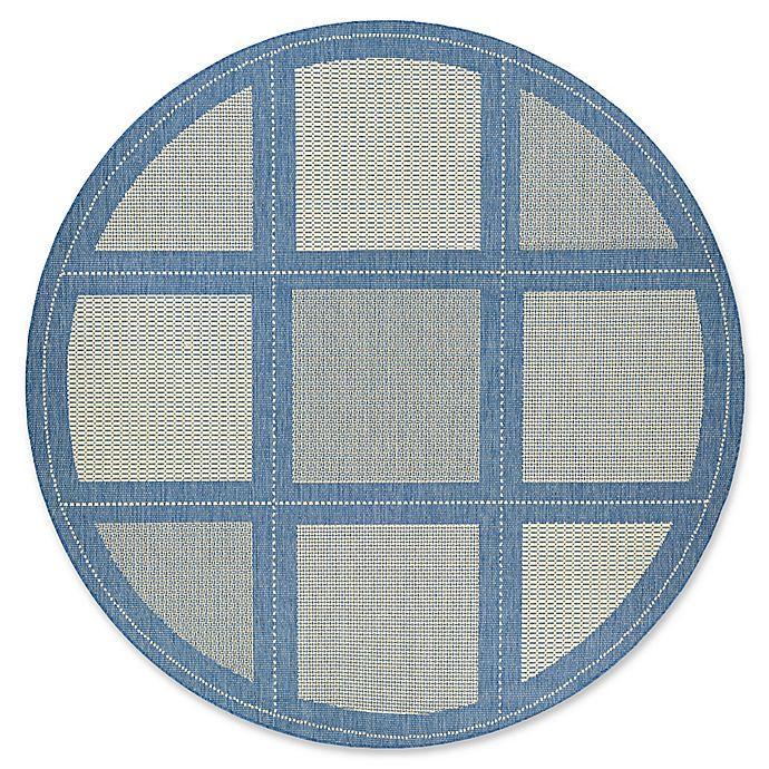 Alternate image 1 for Couristan® Recife Summit 8-Foot 6-Inch Round Indoor/Outdoor Area Rug in Blue
