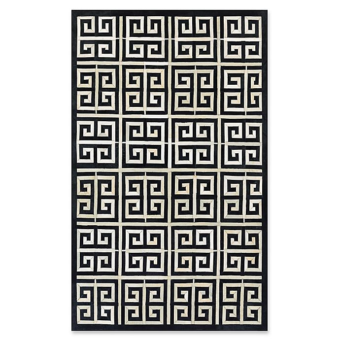Alternate image 1 for Couristan® Chalet Meander 9-Foot 6-Inch x 13-Foot Area Rug in Black/Ivory