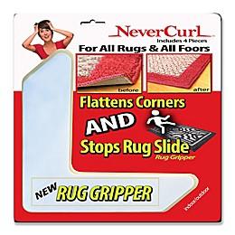 NeverCurl 4-Piece Anti-Curl Rug Corners with Gripper