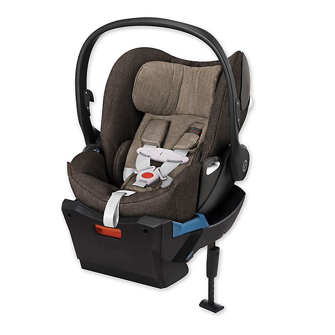 cybex platinum cloud q plus infant car seat with load leg base in desert khaki denim bed bath. Black Bedroom Furniture Sets. Home Design Ideas
