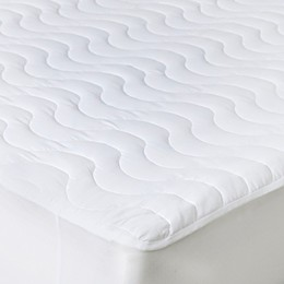 Bluestone Down Alternative Mattress Pad with Fitted Skirt in White