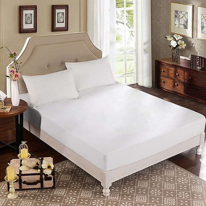 Alternate image 1 for Greenzone 3-Piece Terry Mattress Protector Set