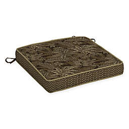 Bombay® Palmetto 21-Inch x 21-Inch Outdoor Seat Cushion in Espresso