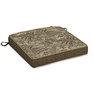 Bombay® Palmetto Snap Dry™ 20-Inch Square Patio Double Welt Seat Cushion in Mocha