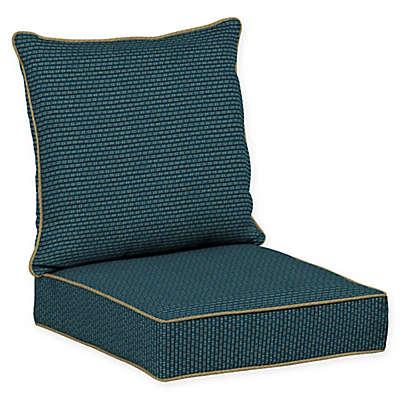 Bombay® Rhodes Snap Dry™ 24-Inch x 46.5-Inch Patio Deep Set Cushion in Indigo Seas