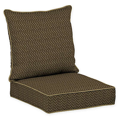 Bombay® Rhodes Snap Dry™ 2-Piece Patio Deep Chair Cushion Set in Brown