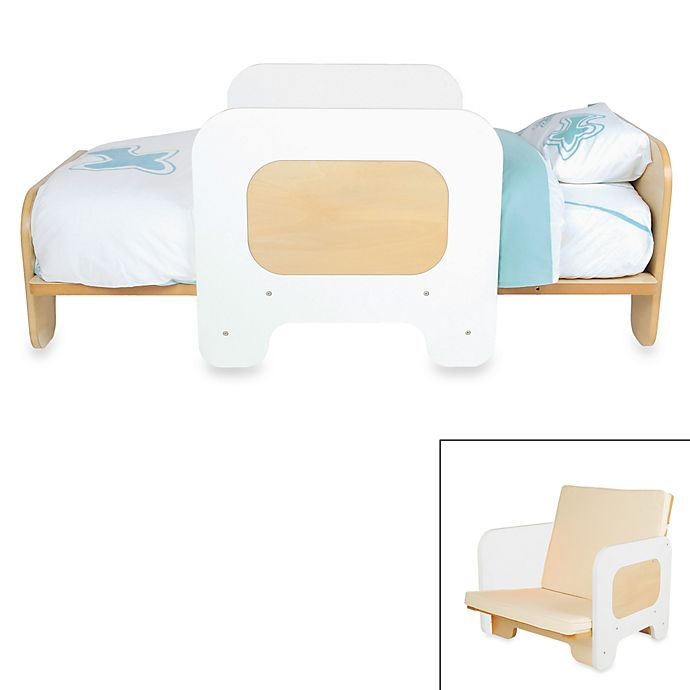 Phenomenal Pkolino White 2 In 1 Toddler Bed And Chair Bed Bath Beyond Creativecarmelina Interior Chair Design Creativecarmelinacom