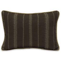 Bombay® Trevor Stripe 15-Inch x 22-Inch Outdoor Oversize Lumbar Pillow in Espresso
