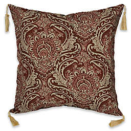Bombay® Venice 16-Inch Square Outdoor Throw Pillow with Tassels in Pomegranate