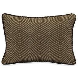 Bombay® Zebra 15-Inch x 22-Inch Outdoor Oversize Lumbar Pillow with Welt in Tan