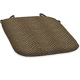 Bombay® Zebra Snap Dry™ 15.5-Inch x 16-Inch Patio Bistro Cushion in Tan
