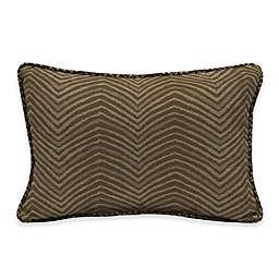 Bombay® Zebra 13-Inch x 20-Inch Outdoor Lumbar Pillow with Welt in Tan