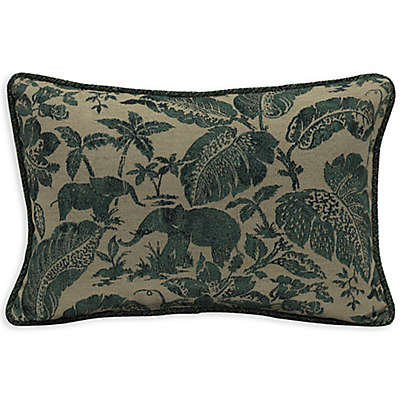 Bombay® Casablanca Elephant 13-Inch x 20-Inch Outdoor Lumbar Pillow with Welt in Green