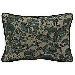 Bombay® Casablanca Elephant 15-Inch x 22-Inch Outdoor Oversize Lumbar Pillow in Green