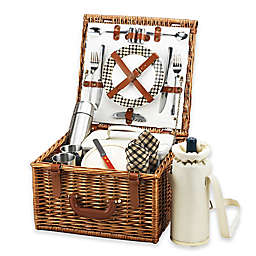 Picnic at Ascot Cheshire Picnic Basket For 2 with Blanket and Coffee Service