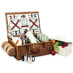 Picnic At Ascot Dorset Basket for 4 with Coffee Set & Blanket