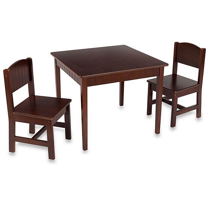 Kids Table And Chairs Set Espresso: Kidkraft® Charleston Table & Chair Set - Espresso