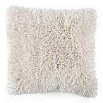 Nottingham Home Shag Square Floor Pillow in Beige