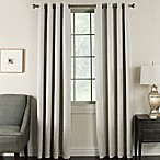 Brinkley 63-Inch Grommet Top Room Darkening Window Curtain Panel in Silver/White