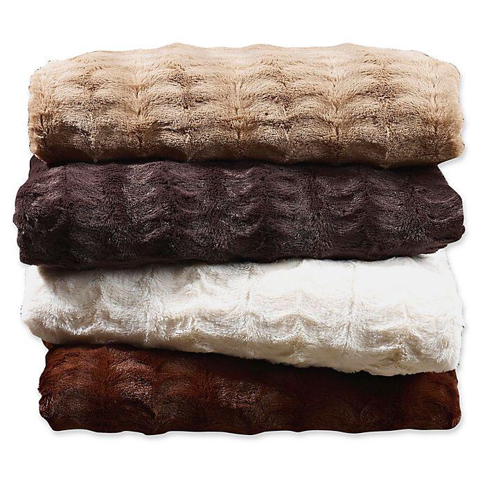 Alternate image 1 for Embossed Faux Mink Blanket
