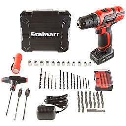 62-Piece 20 Volt Lithium Ion Cordless Drill Accessory Kit