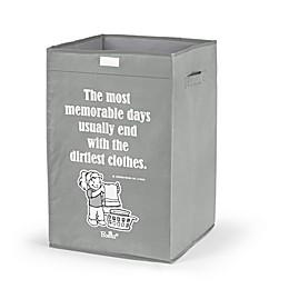 """Bonita NUE """"Memorable Days"""" Happy Laundry Basket in Grey"""