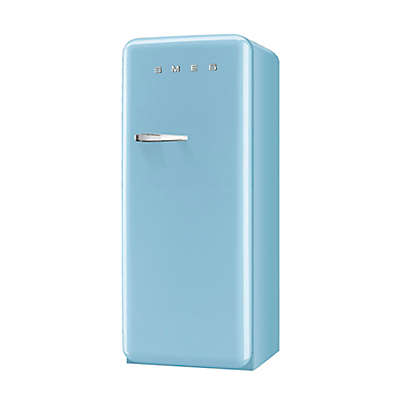 SMEG 9.22 cu. ft. '50s Style Left Hinge Refrigerator/Ice Compartment Top in Pastel Blue