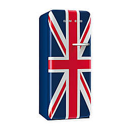 Smeg 9.22 cu. ft. '50s Style Left  Hinge Refrigerator/Ice Compartment Top in Union Jack