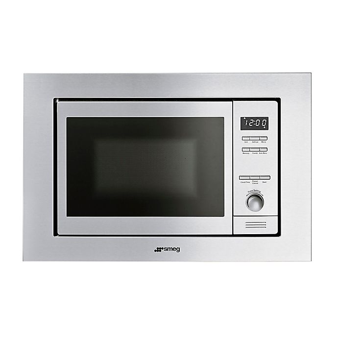 Smeg Clic 24 Inch Built In Microwave With Trim Kit Stainless Steel