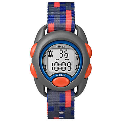 Timex® Time Machines Children's 34mm Digital Watch in Grey with Blue/Orange Strap