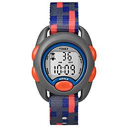 Timex® Time Machines Children's 34mm Digital Watch in Grey with Blue/Orange Strap