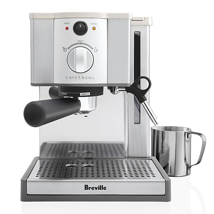 Alternate image 1 for Breville® Cafe-Roma® Model ESP8XL Espresso/ Cappuccino Machine